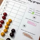 An easy to use graph for fall candy. A great way to collect data.   This set comes with 4 sheets.  -Fall candy -6 colors red, blue, orange, green, ...