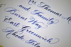 traditional calligraphy wedding envelope addressing - Google Search