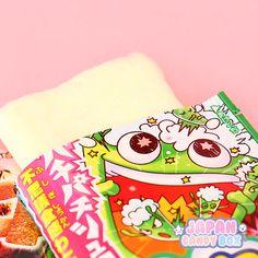 JapanCandyBox.com ❤ Japanese Candy Subscription Box — ✩ CANDY FLOSS & FIZZY POP ROCKS ✩ The melon...