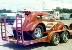 James Brown ran this car as part of the Texas Anglia Circuit. The one piece body was raised like a funny car body. Toy Hauler Trailers, Drag Bike, Drag Racing, Auto Racing, James Brown, Vintage Race Car, Drag Cars, Car Humor, Car Car