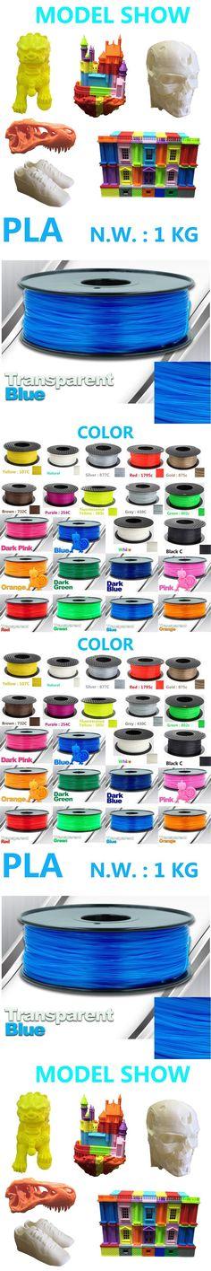 Transparent Blue 3d printer filament  pla 1.75 USA Natural 3d pen impressora 3d plastic filament China pla filament 1.75mm 1kg