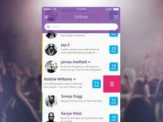 Mail iOS - by Pasha Gonchar | #ui #ios