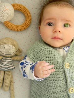 rattle, vest & juana x 2: baby & monkey <3