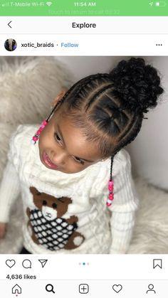 Cute hair- Cute hair - Little Girl Hairstyles Black childrenhairstylesboys childrenhairstylesweaving Cute hair kidsh Little Girls Natural Hairstyles, Toddler Braided Hairstyles, Toddler Braids, Lil Girl Hairstyles, Black Kids Hairstyles, Braids For Kids, Girls Braids, Small Braids, Hairstyle Names