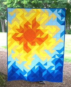 Unique art quilt - head to our site for a whole lot more inspirations! Quilt Square Patterns, Easy Quilt Patterns, Square Quilt, Sewing Patterns, Half Square Triangle Quilts Pattern, Owl Patterns, Block Patterns, Quilt Baby, Quilting Projects