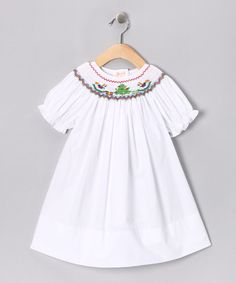 Take a look at this Rosalina White Rocking Horse Bishop Dress - Infant on zulily today!