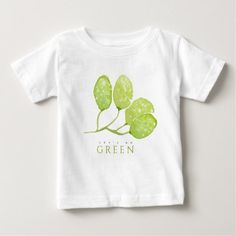 #country - #TROPICAL WATERCOLOUR FOLIAGE LEAF LET'S GO GREEN BABY T-Shirt