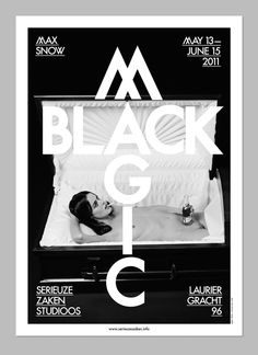 Max Snow / Black Magic / The Days and Nights Festival by OK200 , via Behance