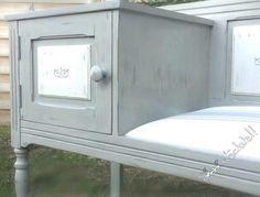 Meuble  téléphone  après   Chalk  paint   Paris  grey  et  old  white