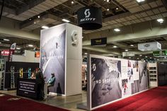 Art Direction of Scott Sports' 2016 Winter Outdoor Retail tradeshow booth.  Layout of physical structure and graphic direction throughout booth.