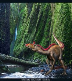 *Cryolophosaurus. Art by Josefa Valdivia. Cryolophosaurus is a genus of large theropods known from only a single species Cryolophosaurus ellioti, known from the early Jurassic period of Antarctica.