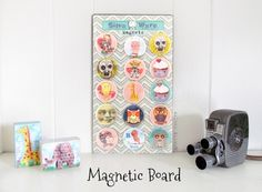 Mod Podger Walter does it again - this time with a custom magnet board that he revamped after buying it from the craft store. This is such an easy tutorial!