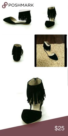 New Fringe Shoes Black color. Brand New! Box included! SAME OR NEXT DAY SHIPPING MONDAY-FRIDAY Shoes Flats & Loafers