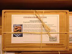 De CedarWood OvenPlanken als relatiegeschenk voor Simoons & Company