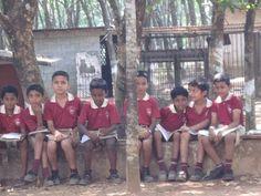 Students at St. Benedict English Medium School Punalur, India