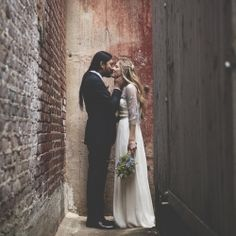 Gorgeous wedding photos and I love this bride's dress!