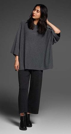 EILEEN FISHER New Arrivals: Luxe Wool Tunic, Merino Jersey Cropped Pant + Chelsea Bootie
