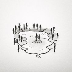 drawing cool easy draw lake drawings things mini smart insanely simple homesthetics doodles nature lakes river minnesota doodle chain tattoo
