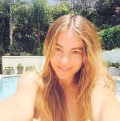 The actress joined in on the makeup free selfie trend with this recent post.