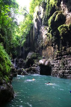 Green Canyon, Pangandaran, Indonesia.  Photograph by meinnameistira on Flickr