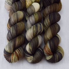 This colorway is a Wild Iris, meaning it is a truly unique, non-repeatable color. When this colorway is sold out, no more can be produced. Caroline Caroline is lusciously soft, blending super fine mer