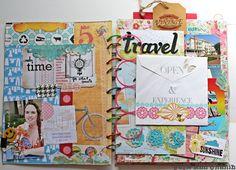 Updated summer/smash journal by julie ann shahin Smash Book Inspiration, Journal Ideas Smash Book, Kunstjournal Inspiration, Art Journal Inspiration, Art Journal Pages, Art Journaling, Journal Cards, Altered Books, Altered Art