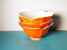 Vintage Orange Lotus Bowls LOVE!!