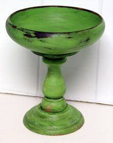 I looooove pedestal bowls. They're perfect for just about anything. You can use them in vignettes. They look great in an entryway, being ...
