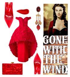 """Modern-day Scarlett O'Hara"" by stephanie-mac on Polyvore featuring Sergio Rossi, Lipstick Queen, Saiid Kobeisy, Edie Parker and modern"