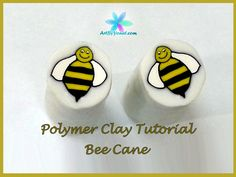 Learn how to make a polymer clay Bee Cane. Links: My book: http://amzn.com/1470100932 My website: http://ArtByYonat.com