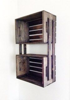 Home diy shelves wooden crates Ideas for 2019 Pallet Crates, Wood Crates, Wooden Boxes, Diy Casa, Bathroom Storage, Bathroom Shelves, Wooden Bathroom, Closet Shelves, Basement Bathroom