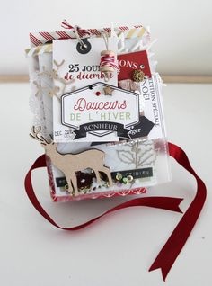 Love this mini-album! December Daily, Christmas Mini Albums, Christmas Minis, Christmas 2019, Mini Albums Scrap, Mini Scrapbook Albums, Christmas Scrapbook Layouts, Christmas Paper Crafts, Happy Mail