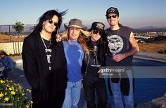 Nikki Sixx, Vince Neil, Mick Mars and Tommy Lee during Motley Crue Photo Shoot in Northridge, California, United States.