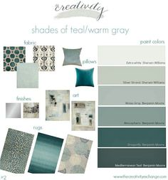 Shades Of Teal And Warm Gray {Moody Monday Creativity Exchange Part 89