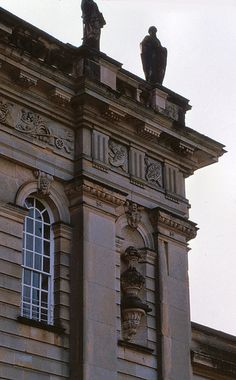 Castle Howard, North Yorkshire, England ( Sir John Vanbrugh and Nicholas Hawkmoor: 1699 - 1712)    Detail of north elevation of main block.