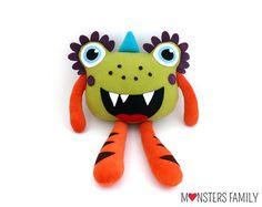 Monster Pillow for babies stuffed toy plush mascot pillow gift birthday kids Monster Dolls, Sock Monster, Funny Pillows, Baby Pillows, Cute Monsters, Trendy Kids, Christmas Pillow, Christmas Gifts For Kids, Animal Pillows