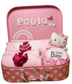 Canastilla Bebés Pequeño maletín rosa