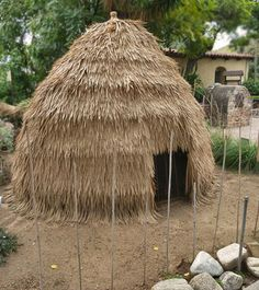 Tongva Indian House at Mission San Gabriel About.com