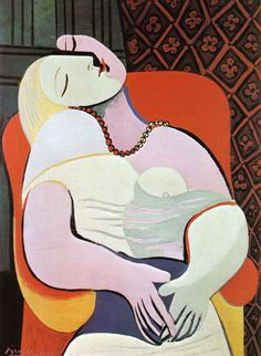 Pablo Picasso-Women Asleep in an Armchair (The Dream 1932)
