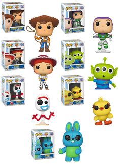 Disney Pixar Toy story 4 Funko pops Disney Pixar Toy story 4 Funko Pops collect them all Disney Pop, Disney Pixar, Funko Pop Dolls, Funko Pop Figures, Vinyl Figures, Funko Pop Toy Story, Musik Player, Funk Pop, Pop Toys