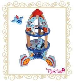 Tiger Tribe-Wooden Toys for Kids- Kit Pax Rocket Ship Baby Boy Gifts, Gifts For Boys, Tiger Tribe, Toy Rocket, Travel Toys, Educational Toys For Kids, Kits For Kids, Kids Store, Baby Design
