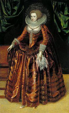 Portrait of Anne Wortley by British School, ca 1620 UK, Tate Britain