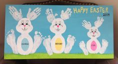Easter Bunny Handprint Craft for Kids