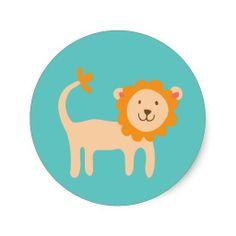 Little Lion Stickers #jungle #safari #theme #themed #animal #print #safari #nursery #decor #ideas #shower #gifts #gift