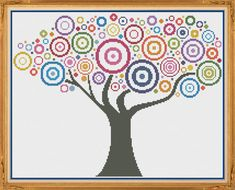 Tree 3 Counted Cross Stitch Pattern X-Stitch by HornswoggleStore