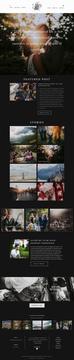Bryden Giving Photographer | Squarespace webdesign | Jodi Neufeld Design