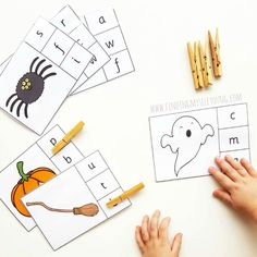 Finding Myself Young: Twinkl teaching resources. Halloween phonics printables & fine motor activity. Halloween Activities For Kids, Educational Activities For Kids, Outdoor Activities For Kids, Motor Activities, Learning Resources, Fun Learning, Halloween Crafts, Phonics, Messy Play