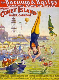 Antique CIRCUS Poster.  Vintage Acrobats. by DandDDigitalDelights