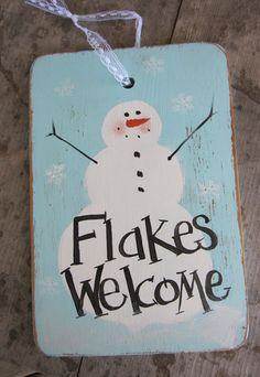 Primitive Snowman Sign Christmas Sign Prim by SweetLibertyBarn