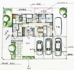 コストパフォーマンス重視総2階 House Plans, Floor Plans, How To Plan, Home Decor, Japanese, Drawing, Model, Log Projects, Architecture